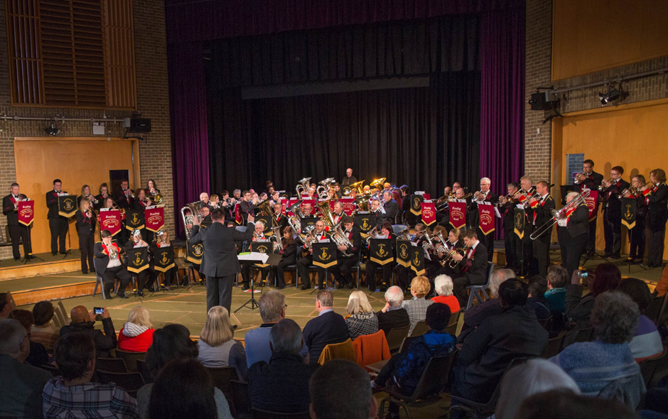 The Massed Bands of the 2019 Reading Festival of Brass